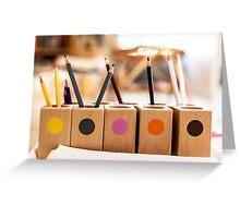 Pencil Colour Greeting Card