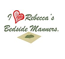 I Heart Rebecca's Bedside Manners. Photographic Print
