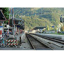 Railway Station West Interlaken Switzerland Photographic Print