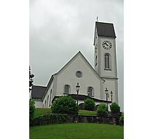 Beautiful church in the Swiss city of Lucerne Photographic Print