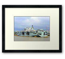 HMS Ocean. Framed Print