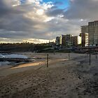 The Empty Volleyball Nets - Newcastle Beach by Daniel Rankmore