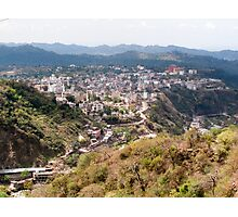 View of Katra township while on the pilgrimage to the Vaishno Devi Shrine in Kashmir in India Photographic Print