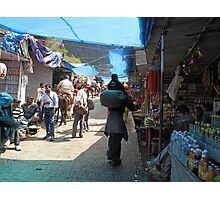 Scene at the climbing path leading to the Vaishno Devi shrine in Jammu and Kashmir state in India Photographic Print