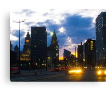 Liverpool Night Canvas Print