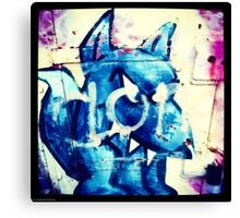 Graffiti Dog Canvas Print