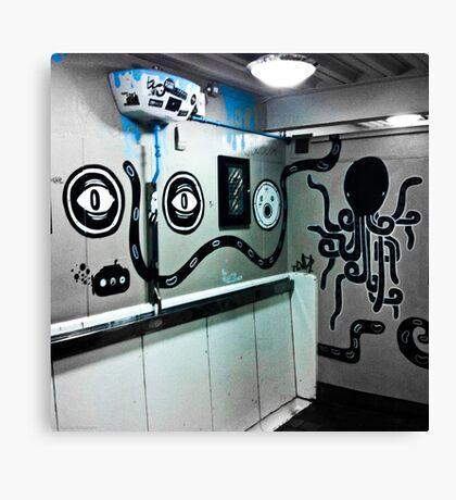 Graffiti toilet Canvas Print