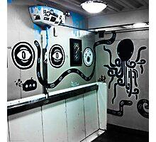 Graffiti toilet Photographic Print
