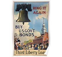 Ring it again Buy US Govt Bonds Third Liberty Loan 002 Poster