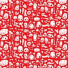 Red Skulls by ShakeyIllustra