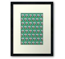 """""""Cherry on Pup"""" Maltese Cake Pattern Green Framed Print"""