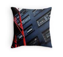 Fire Escape Throw Pillow