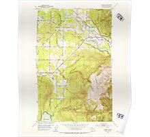 USGS Topo Map Washington State WA Lawrence 241956 1952 24000 Poster