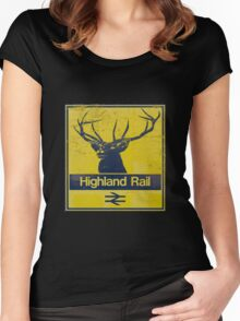 Highland Rail logo Women's Fitted Scoop T-Shirt