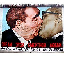 Graffiti painting on the Berlin wall Photographic Print