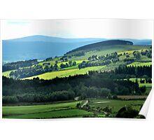 Driving through paradisical Aberdeenshire Poster