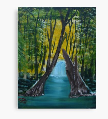 """""""Forest River""""  by Carter L. Shepard Canvas Print"""