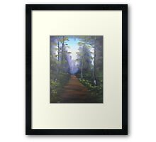 """Forest Path""  by Carter L. Shepard Framed Print"