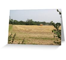 wheat going in hopper Greeting Card