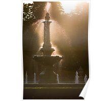 Flickering fountain. Poster