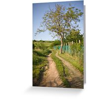 Rural tranquility. Greeting Card