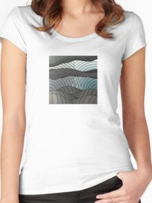 The Greyscale Collection no.4 Women's Fitted Scoop T-Shirt