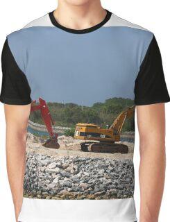 Two Bulldozers Graphic T-Shirt