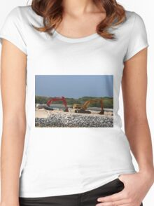Two Bulldozers Women's Fitted Scoop T-Shirt