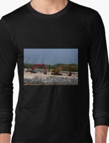 Two Bulldozers Long Sleeve T-Shirt