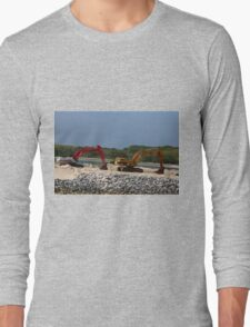 Two Bulldozers Long Sleeve T-Shirt