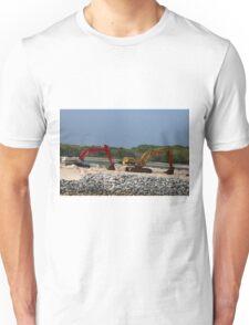 Two Bulldozers Unisex T-Shirt