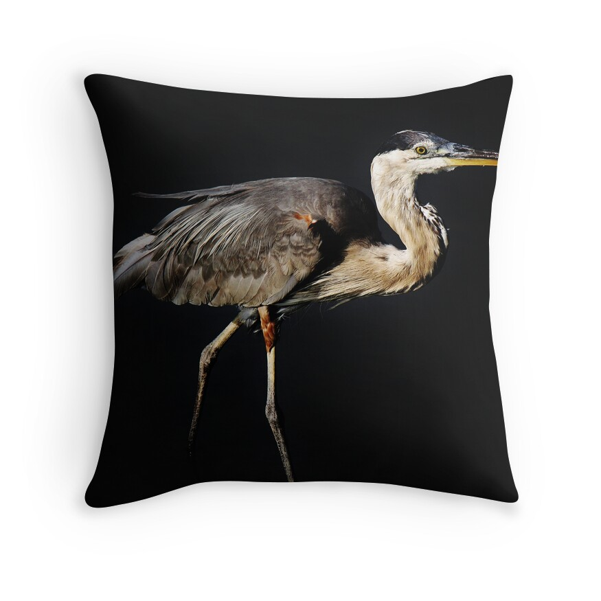 Blue Heron Throw Pillows :