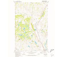 USGS Topo Map Washington State WA Riverside 243477 1981 24000 Photographic Print