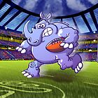 Olympic Rugby Rhinoceros by Zoo-co