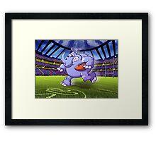 Olympic Rugby Rhinoceros Framed Print