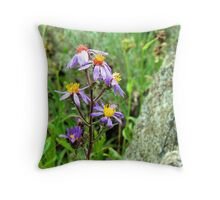 Mountain Wild Flower Throw Pillow