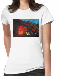 City Night Walks - the Red Facade Womens Fitted T-Shirt