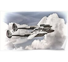 P-38 Flying Legend Poster