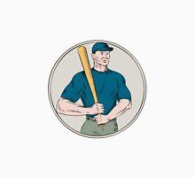 Baseball Player Batter Holding Bat Etching Unisex T-Shirt