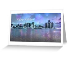 Happy Holidays from Detroit  Greeting Card