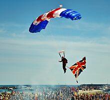 Bringing Home the Flag ~ RAF Falcons by Susie Peek