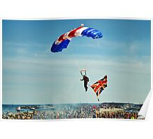 Bringing Home the Flag ~ RAF Falcons Poster