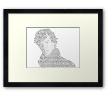 Every Sherlock Quote! Framed Print