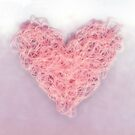 My heart is tangled up with thoughts of you (Soft Pink) by Kellyanne