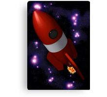 Retro Rocket Canvas Print