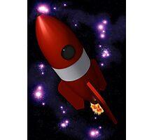 Retro Rocket Photographic Print