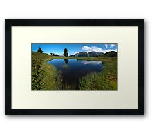 Hikers Paradise in Tirol Framed Print