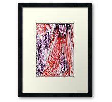 Purple and Red Framed Print