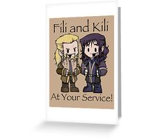 Little Fili and Kili Greeting Card