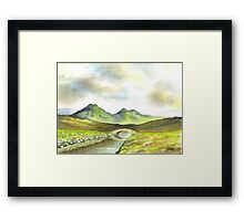 THE BROOK BETWEEN THE MOUNTAINS Framed Print